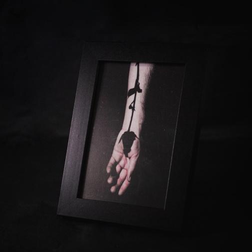 """Cornice 10x15 """"Solo l'ombra di una Rosa""""     25 €"""