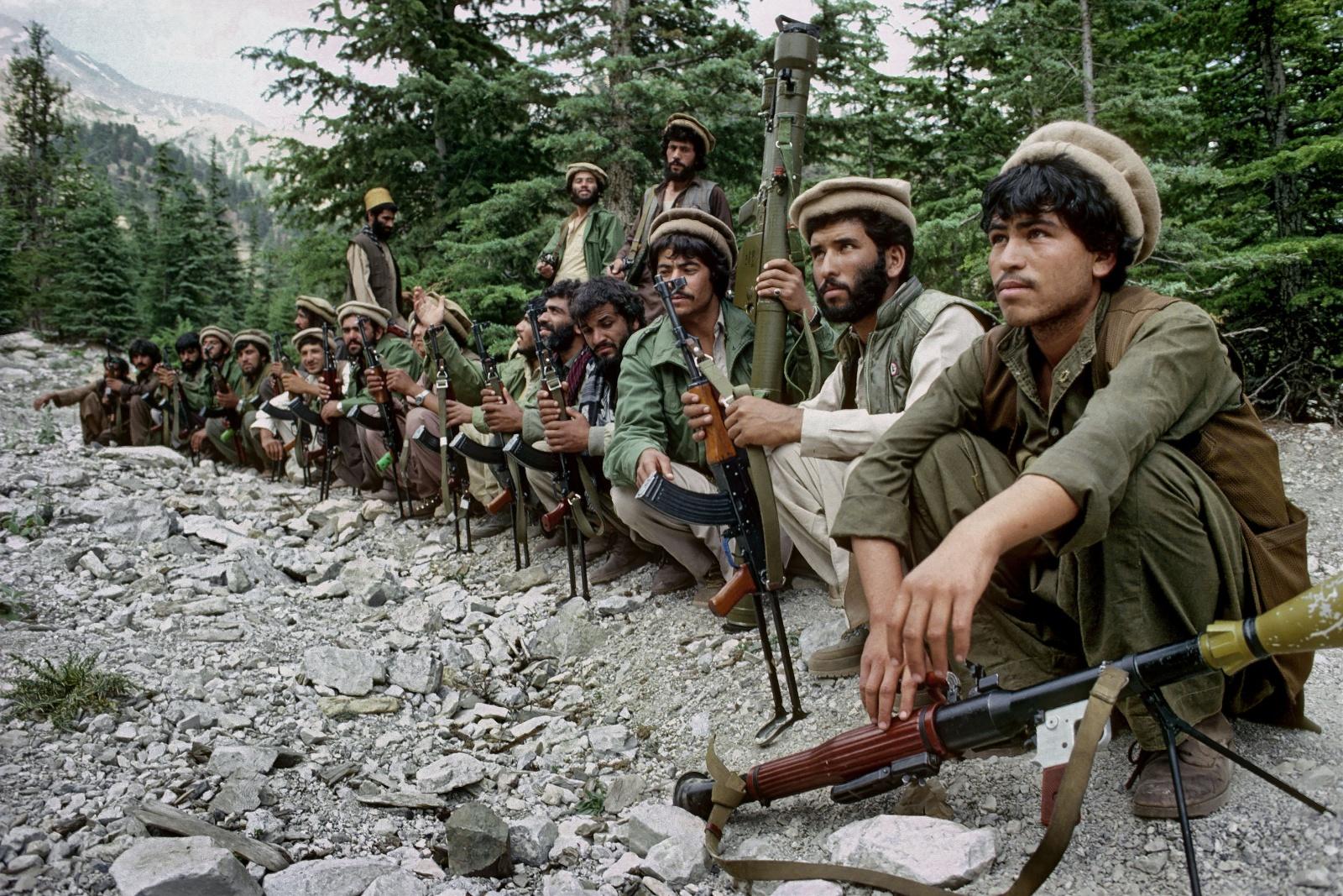 Afghanistan, Mujahideen Jamiat Islami sulle montagne intorno a Kabul