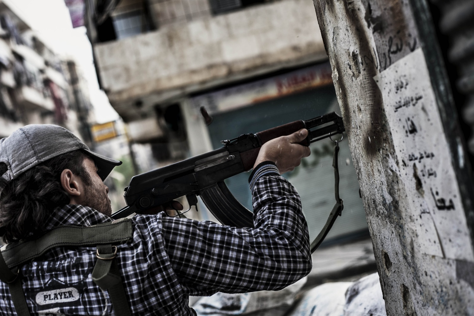 Syria, Aleppo - Combattimenti nel quartiere di Bustan Al Bascha con Free Syrian Army