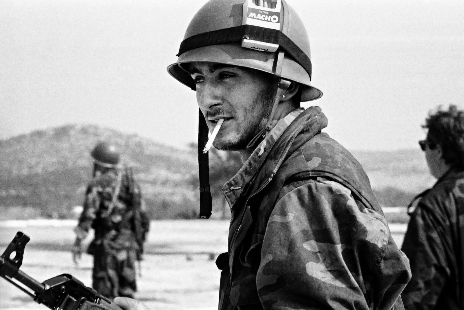 Croazia, Dalmazia 1991 - Militare volontario croato dopo la battaglia per la presa del ponte di Sebenico