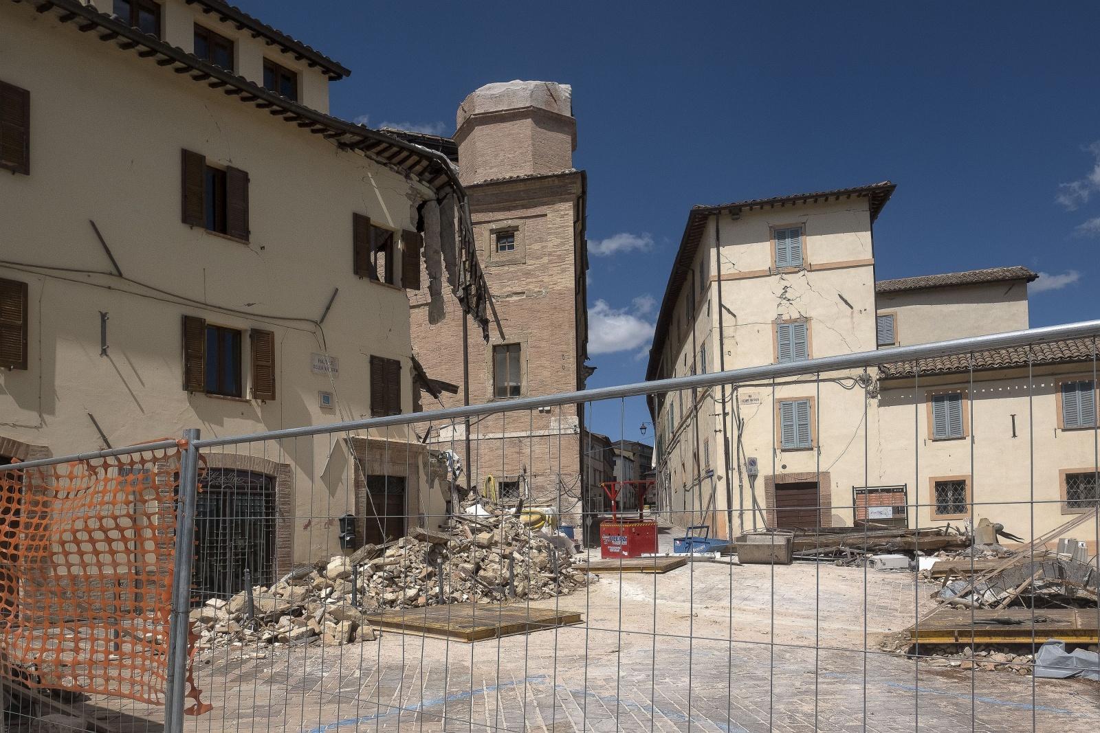 Camerino città universitaria delle Marche colpita dal terremoto il 26 ottobre del 2016