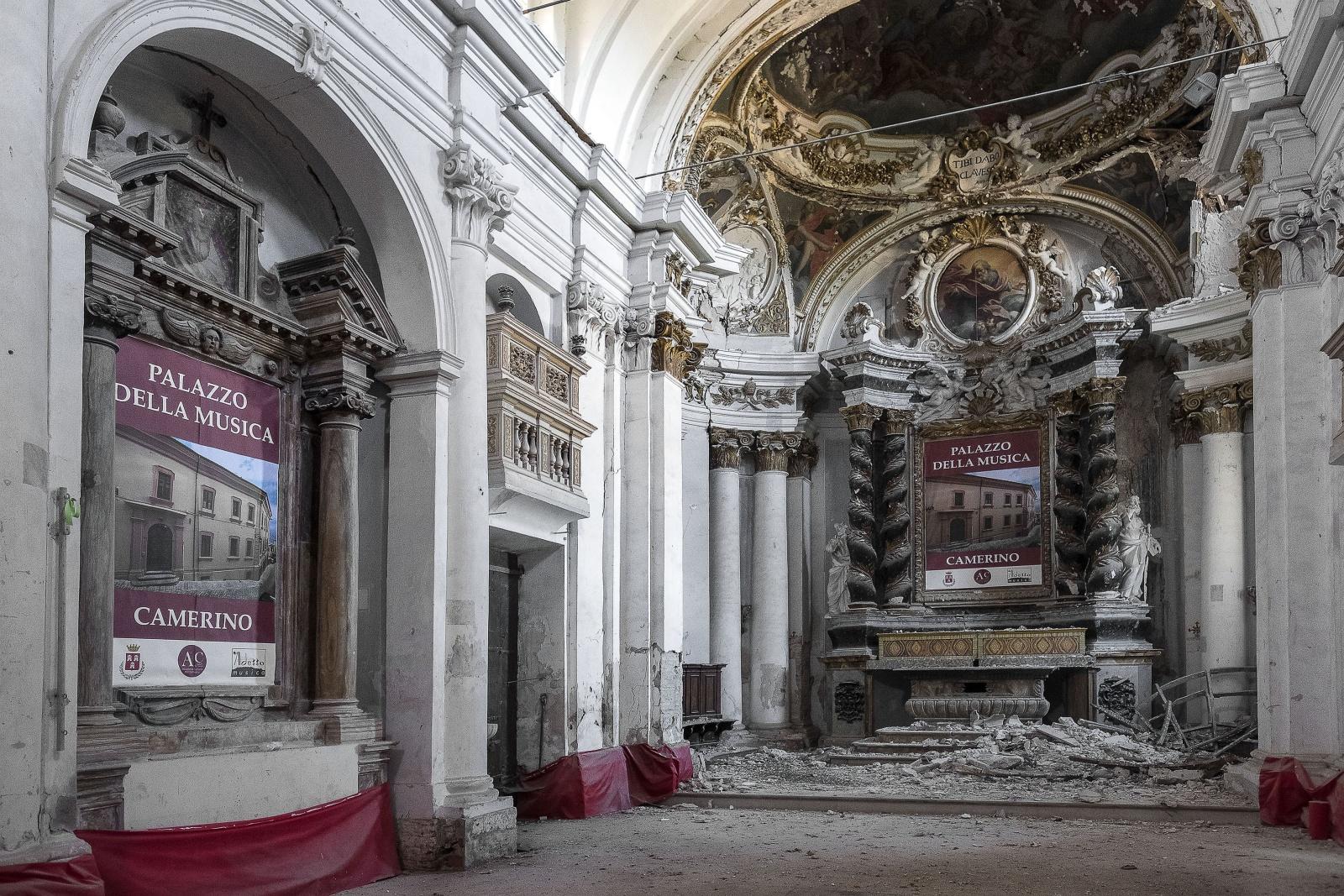 Camerino città universitaria delle Marche colpita dal terremoto il 26 ottobre del 2016 -Istituto Nelio Bondi Musicale di Camerino