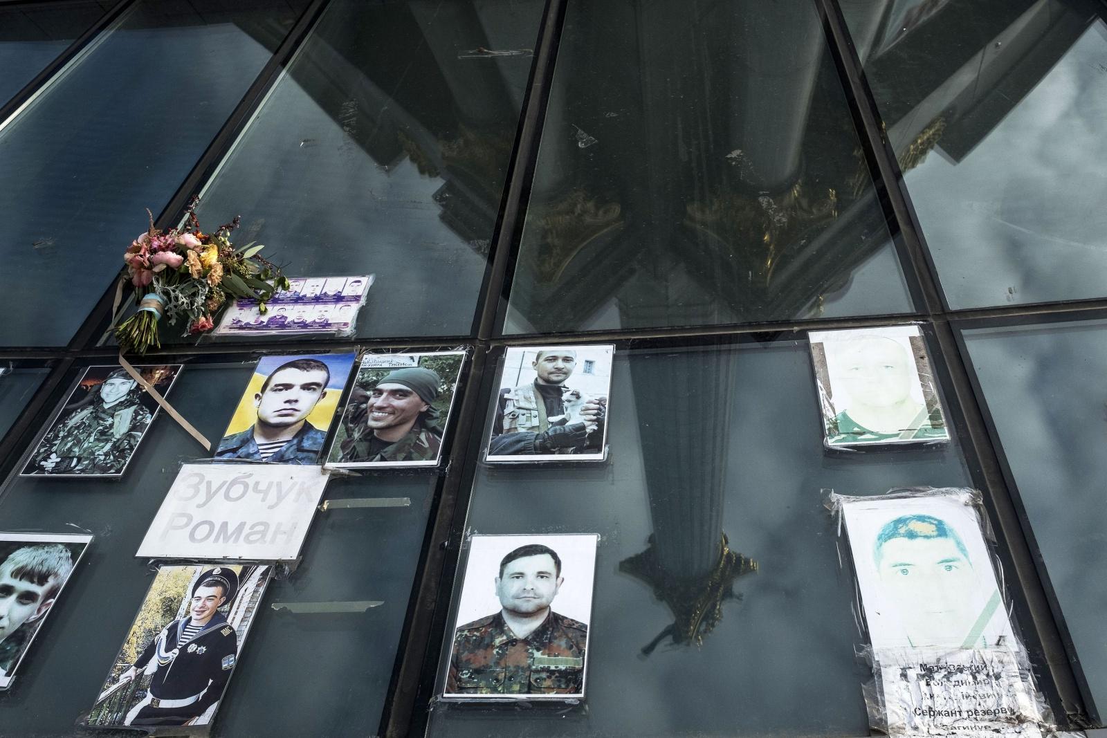 Ucraina - Kiev, ricordo ai caduti di Maidan