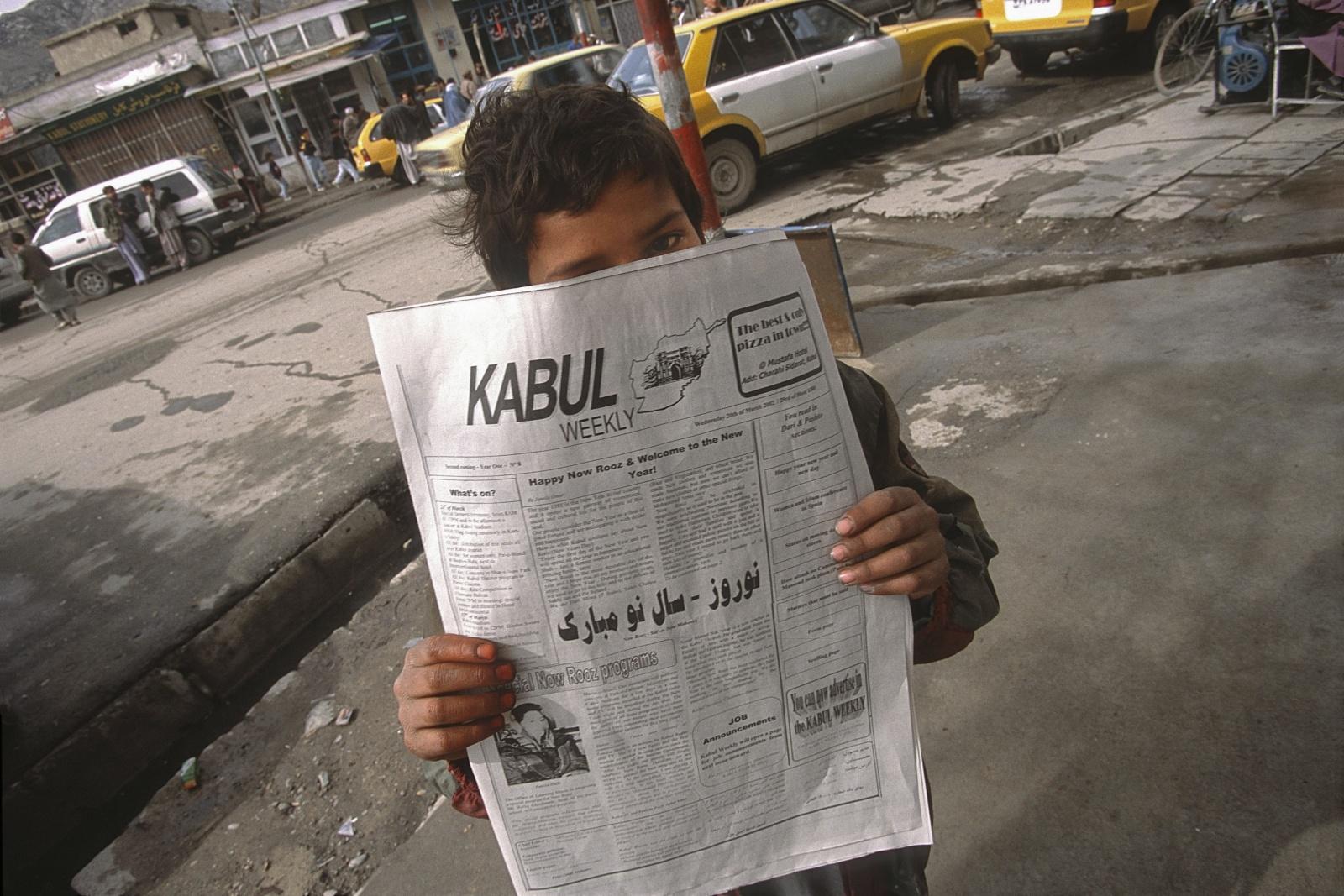 Afghanistan, Kabul-weekly unico giornale in lingua inglese