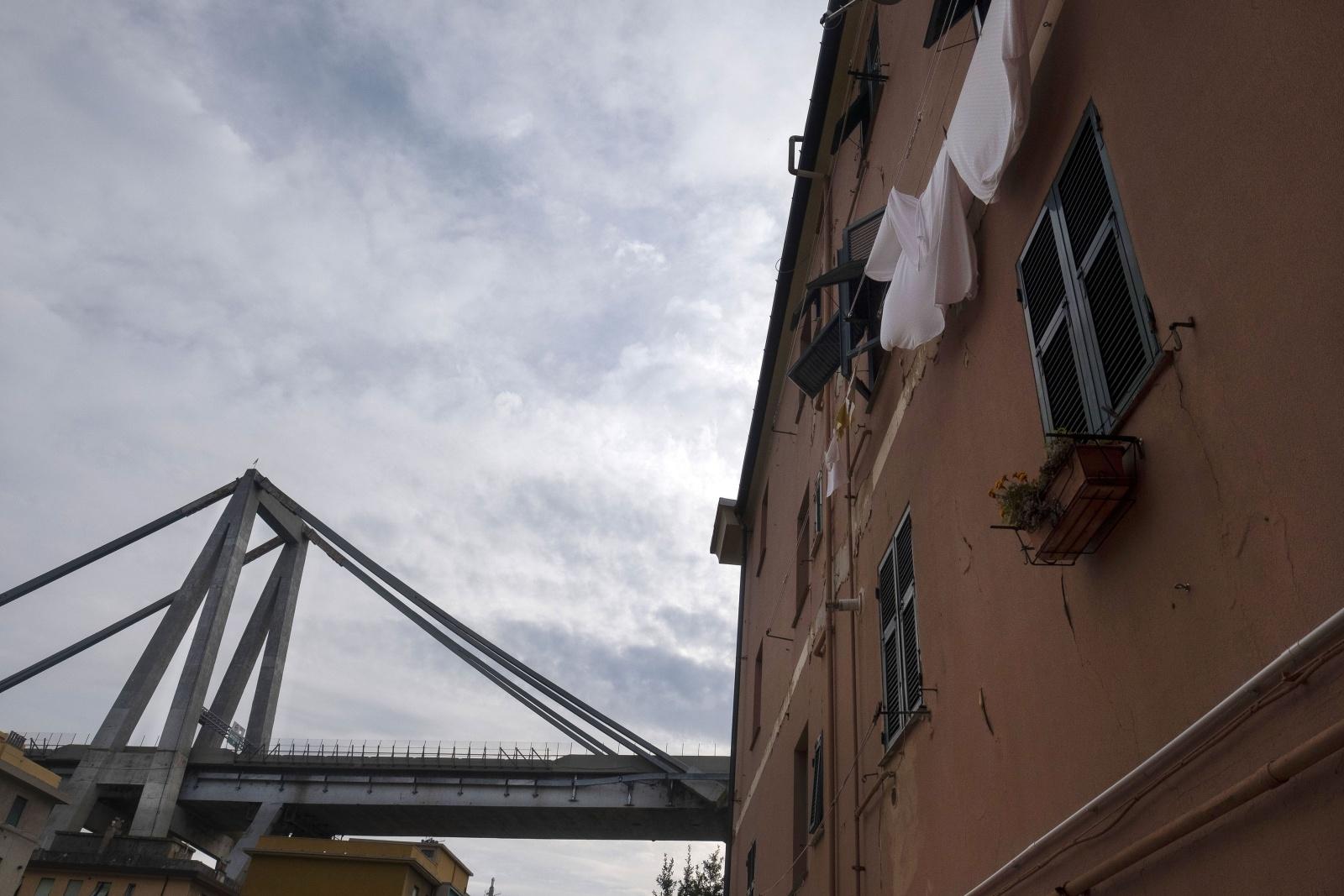 Il ponte Morandi di Genova crollato il 14 di agosto del 2018 - La zona rossa di via Porro